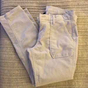 NEVER WORN light grey corduroy pants.